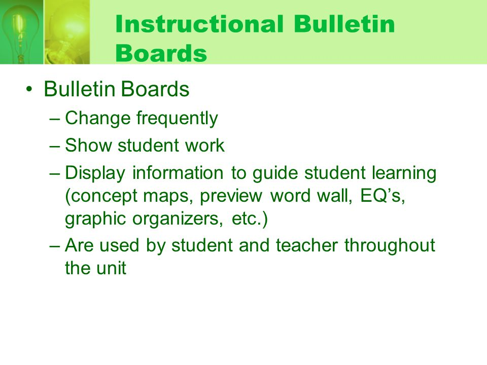 Instructional Bulletin Boards