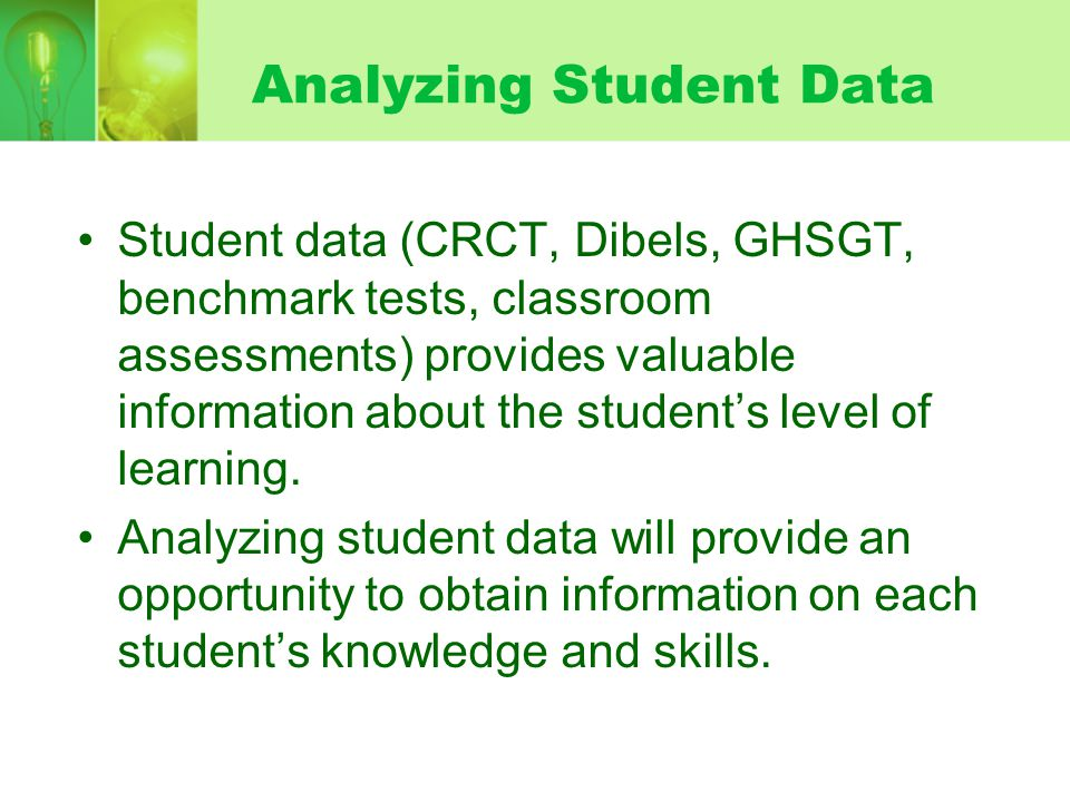 Analyzing Student Data