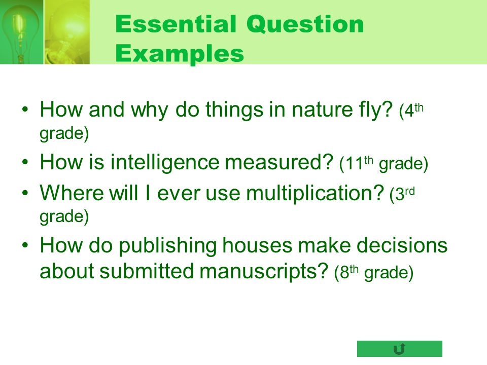 Essential Question Examples