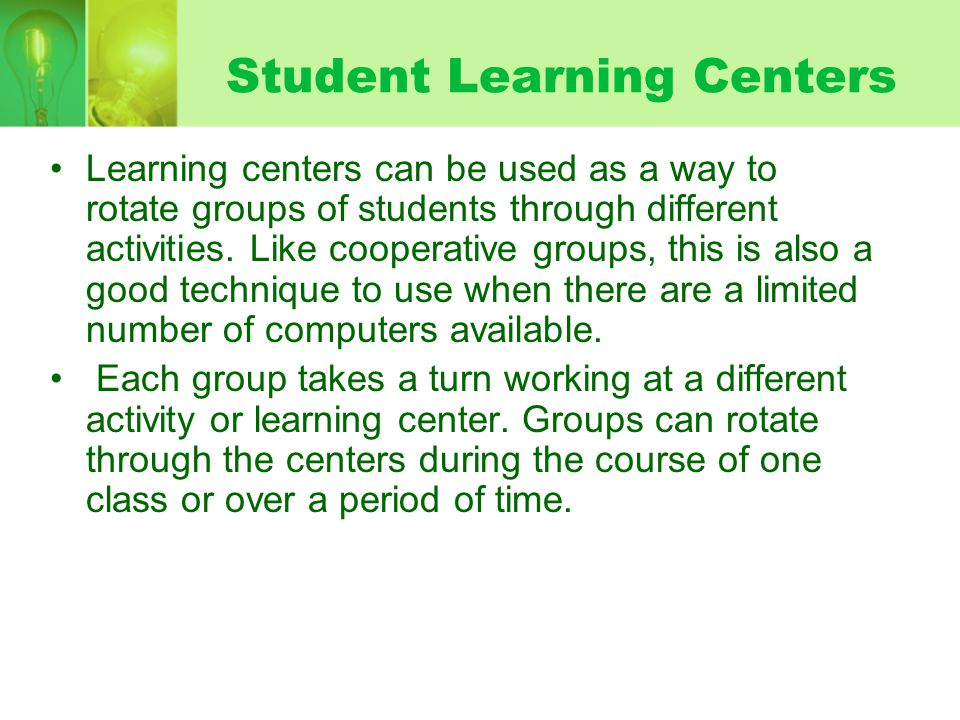 Student Learning Centers