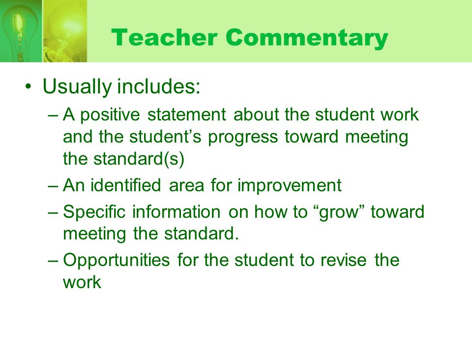 Teacher Commentary Usually includes: