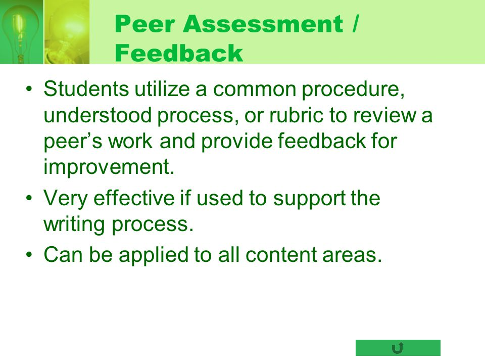Peer Assessment / Feedback