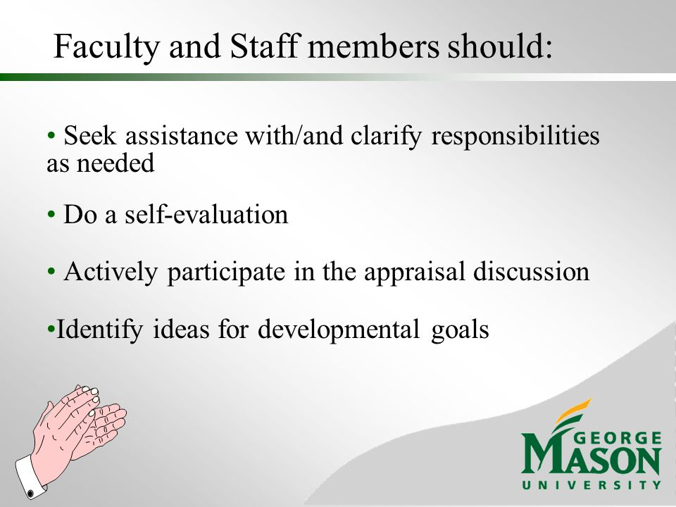 Faculty and Staff members should: