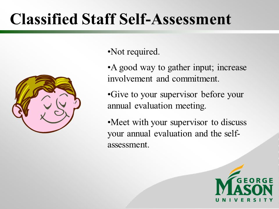 Classified Staff Self-Assessment