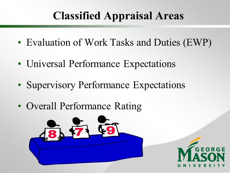 Classified Appraisal Areas