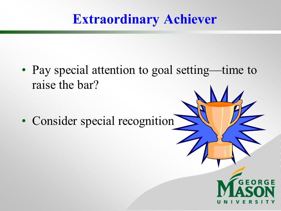 Extraordinary Achiever