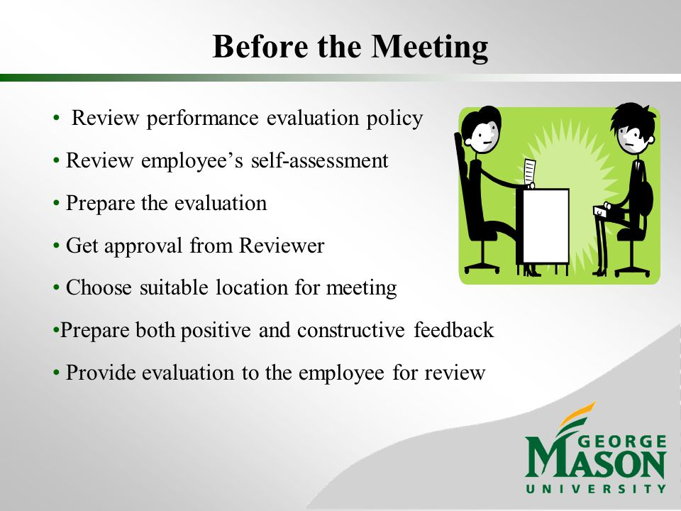 Before the Meeting Review performance evaluation policy