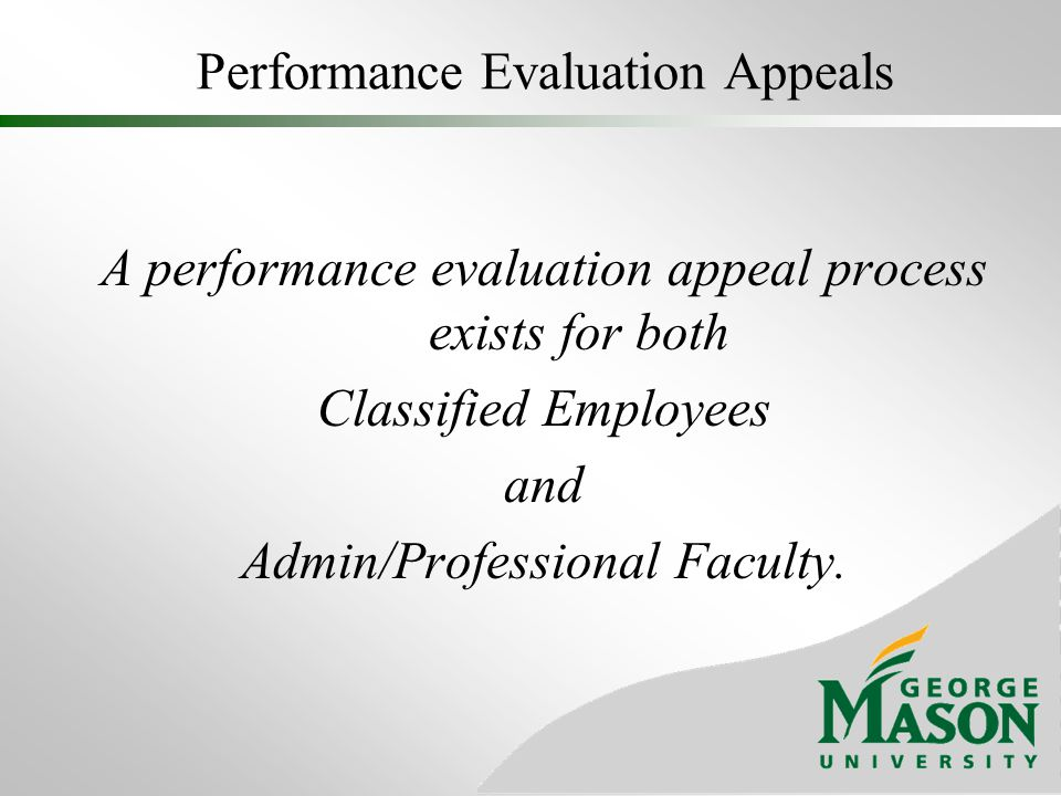 Performance Evaluation Appeals