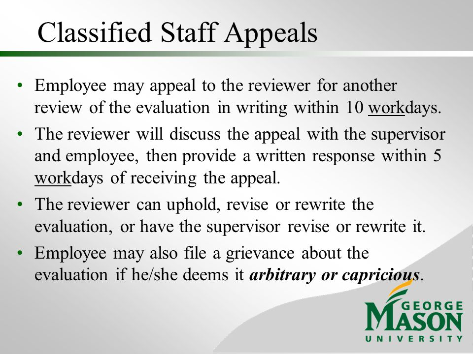 Classified Staff Appeals
