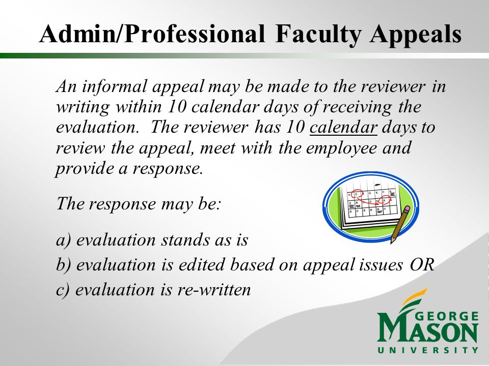 Admin/Professional Faculty Appeals