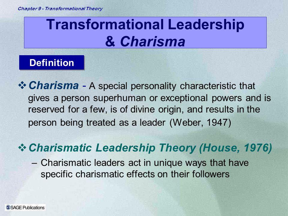 Transformational Leadership & Charisma
