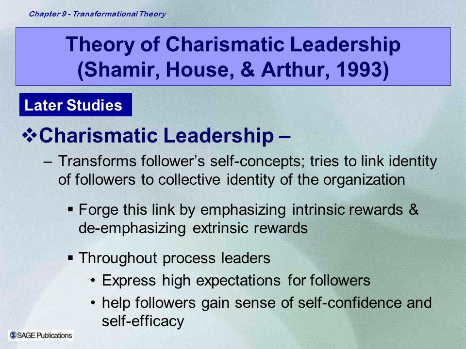 Theory of Charismatic Leadership (Shamir, House, & Arthur, 1993)