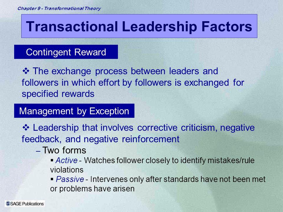 Transactional Leadership Factors