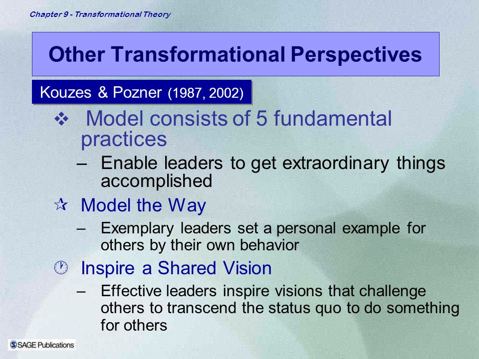 Other Transformational Perspectives