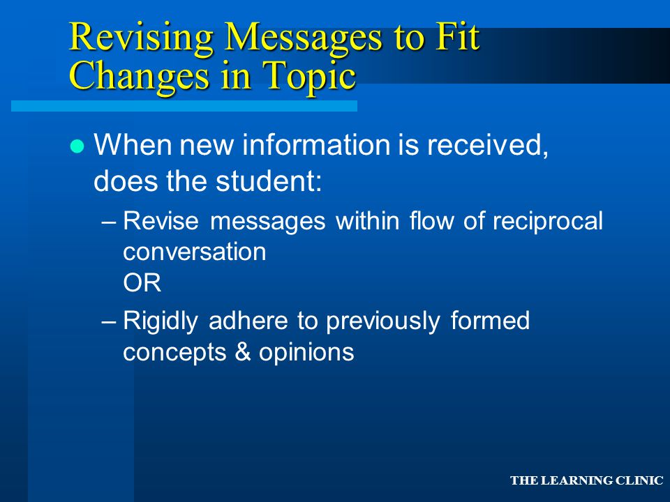 Revising Messages to Fit Changes in Topic