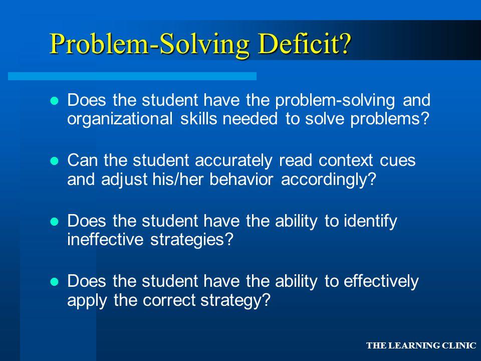 Problem-Solving Deficit
