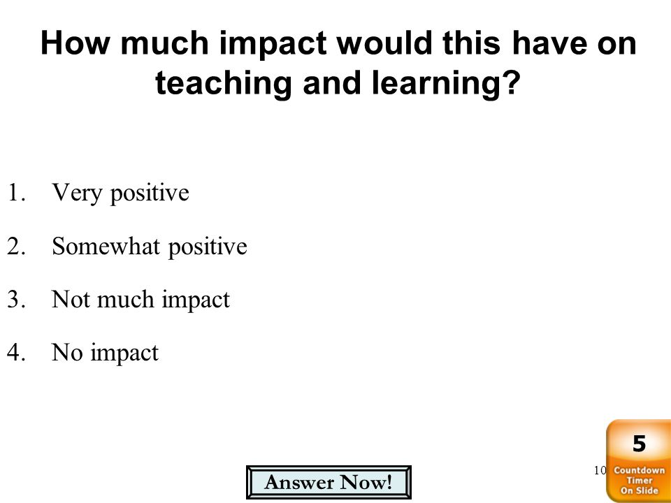 How much impact would this have on teaching and learning