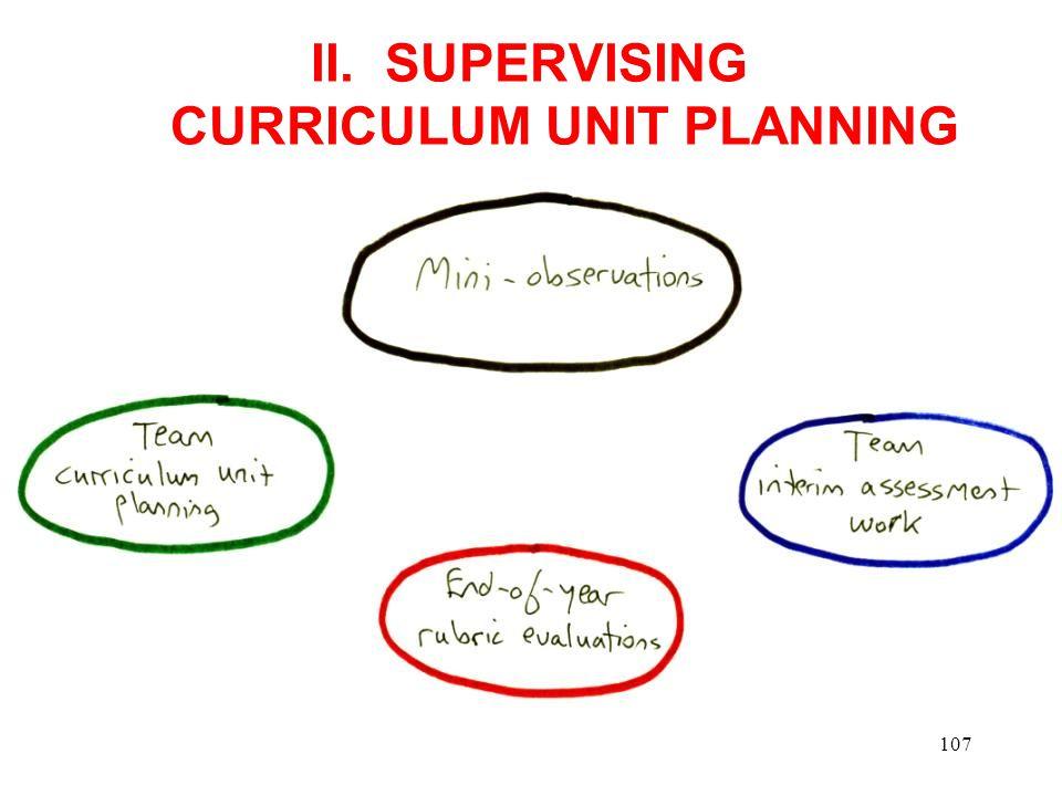 II. SUPERVISING CURRICULUM UNIT PLANNING