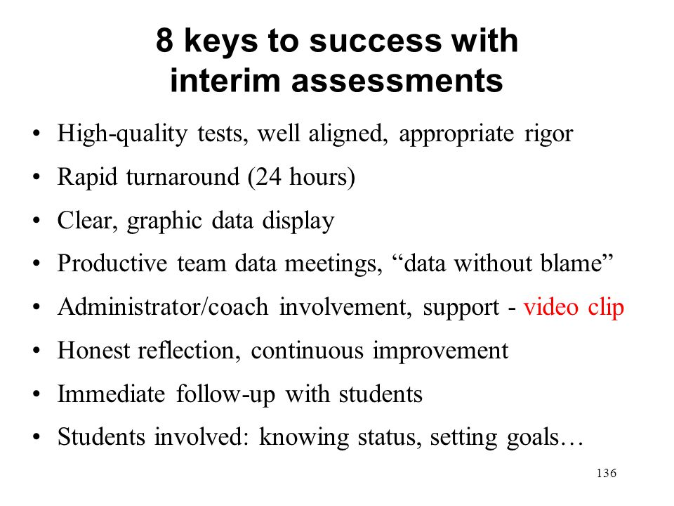 8 keys to success with interim assessments