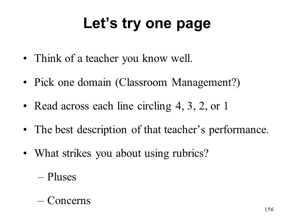 Let's try one page Think of a teacher you know well.