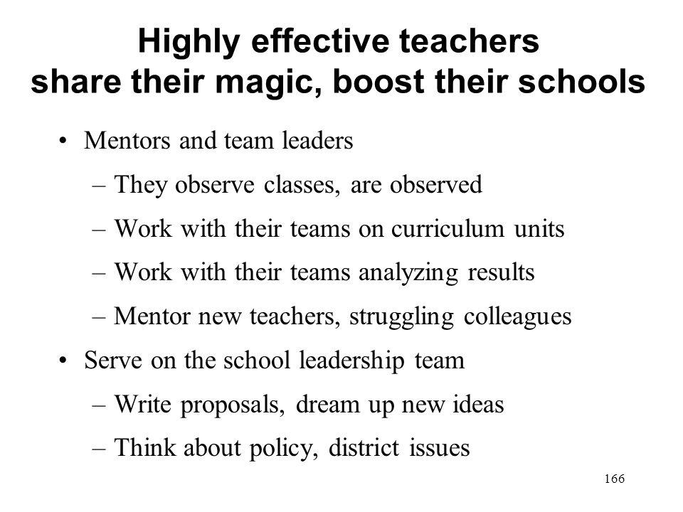 Highly effective teachers share their magic, boost their schools