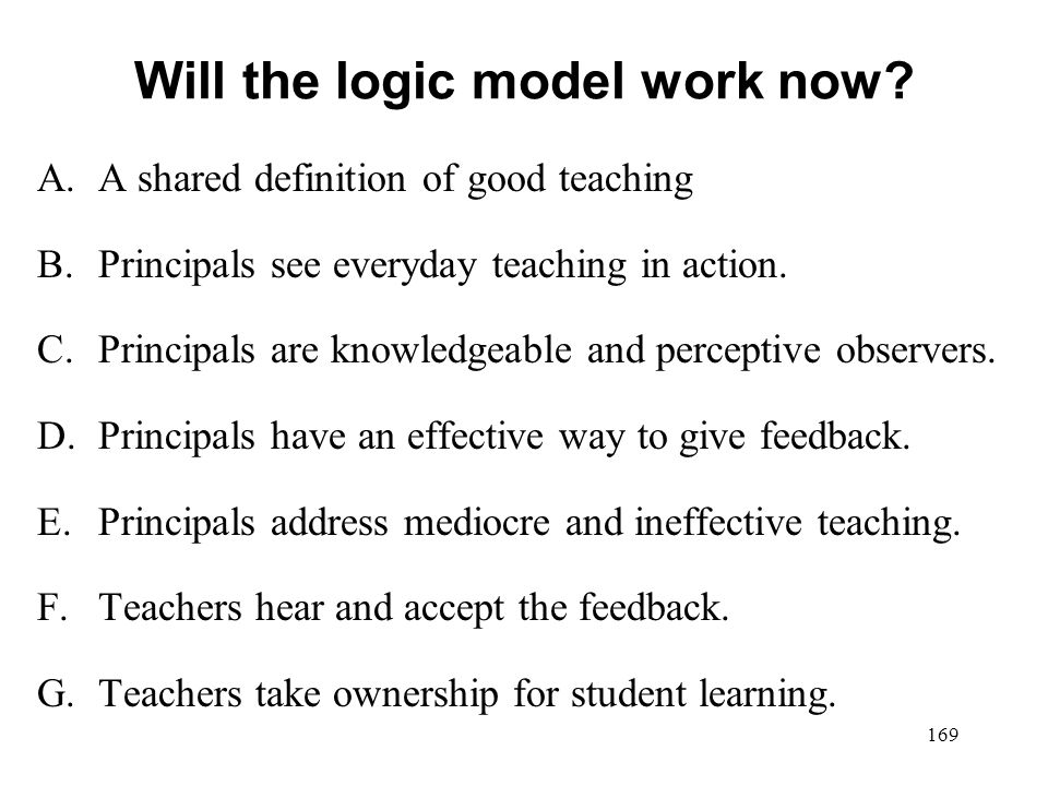 Will the logic model work now