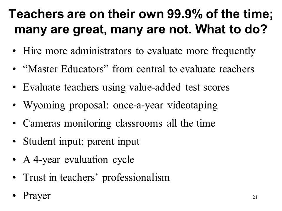 Teachers are on their own 99
