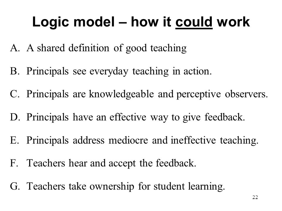 Logic model – how it could work