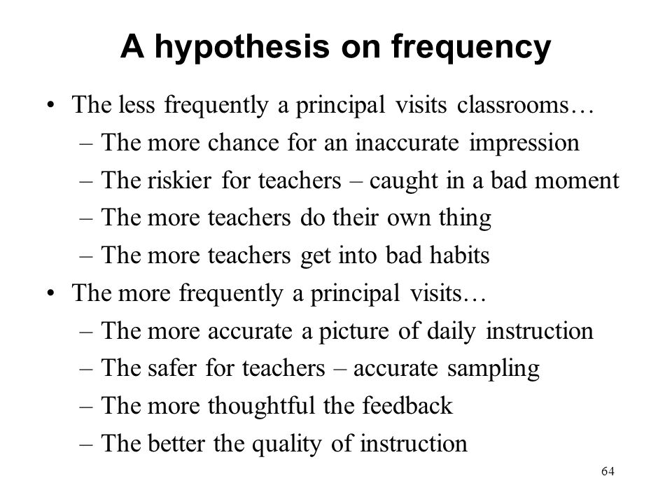 A hypothesis on frequency