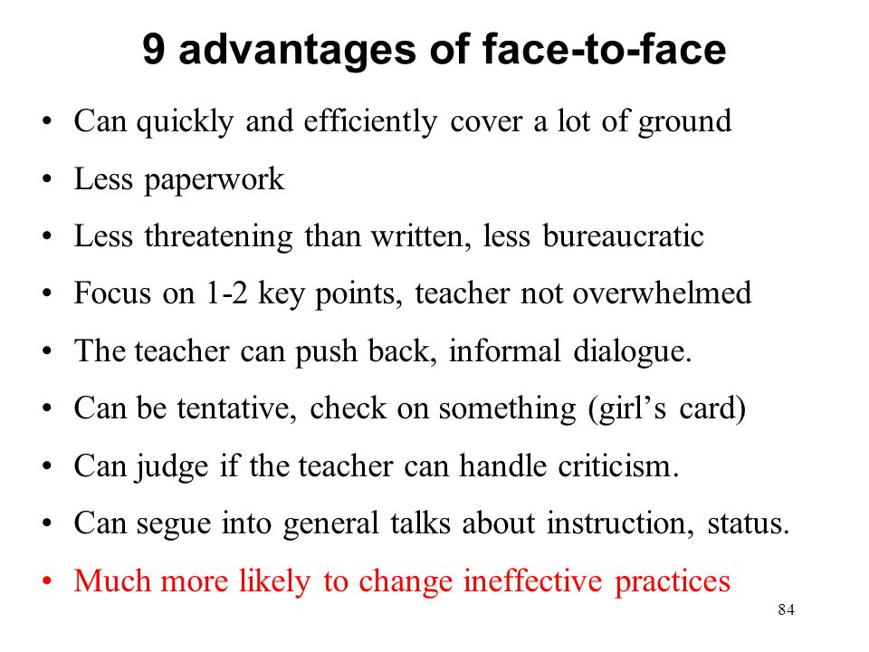 9 advantages of face-to-face