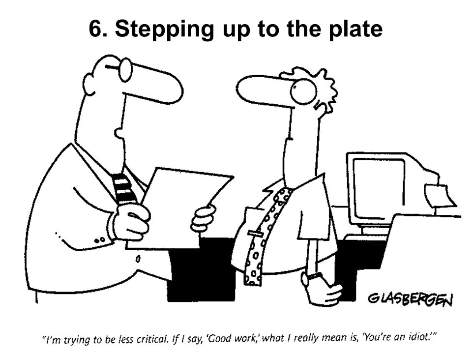6. Stepping up to the plate