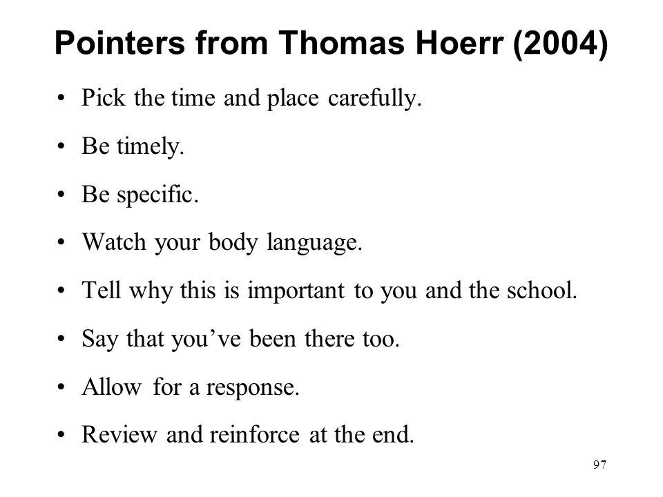 Pointers from Thomas Hoerr (2004)