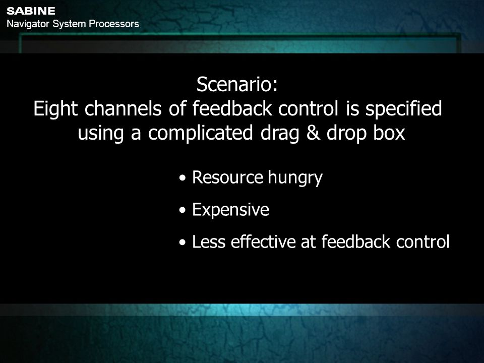 Eight channels of feedback control is specified