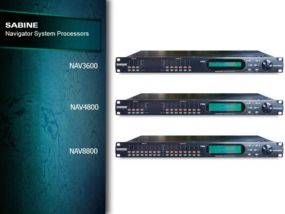 SABINE Navigator System Processors NAV3600 NAV4800 NAV8800