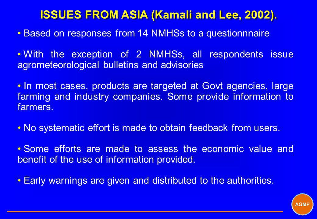 ISSUES FROM ASIA (Kamali and Lee, 2002).