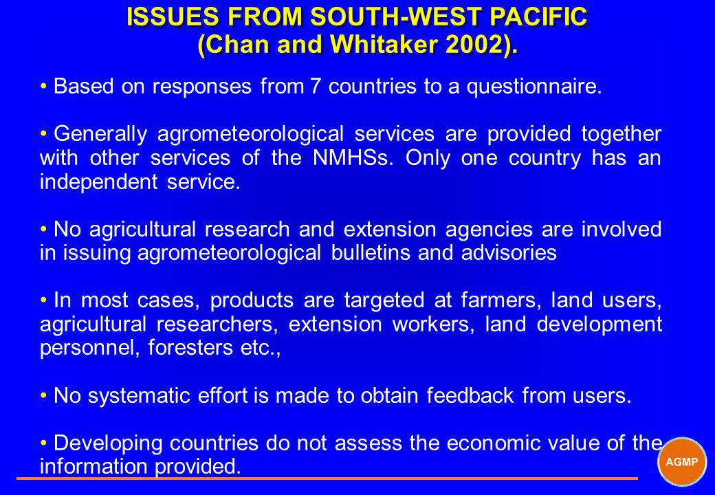 ISSUES FROM SOUTH-WEST PACIFIC