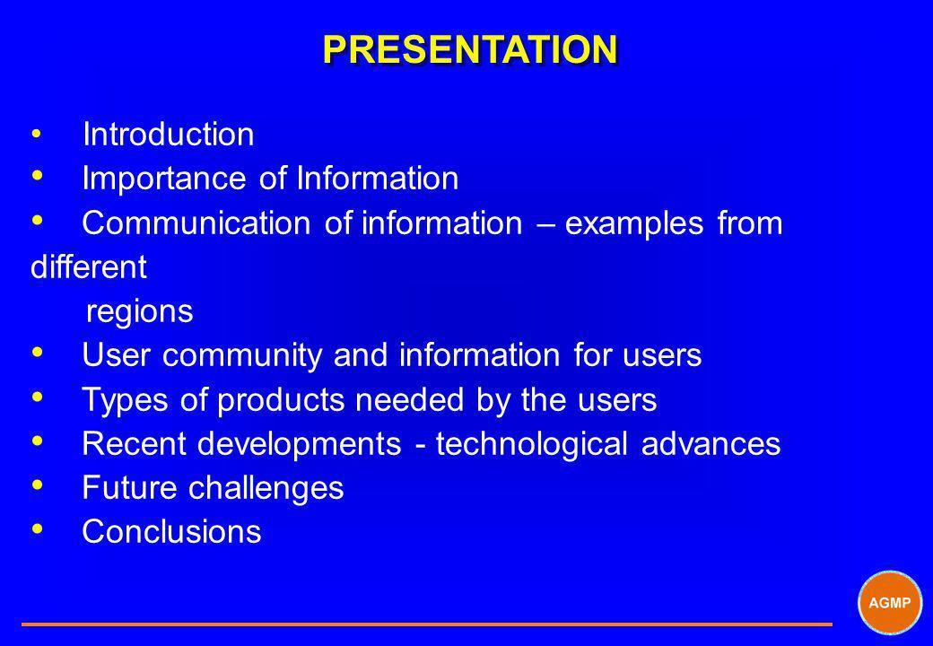 PRESENTATION Importance of Information