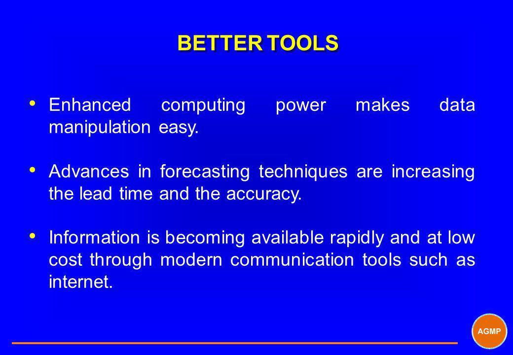 BETTER TOOLS Enhanced computing power makes data manipulation easy.