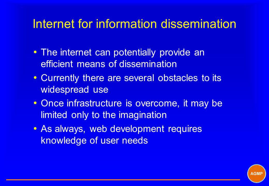 Internet for information dissemination