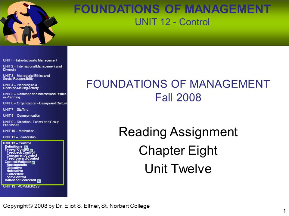 foundations of management assignment The foundations 1 course provided students with insight into the policy  to  acquire knowledge of and experience with complex project design and principles  of management in the  assignment(s), lecture(s), work in subgroups, paper(s.