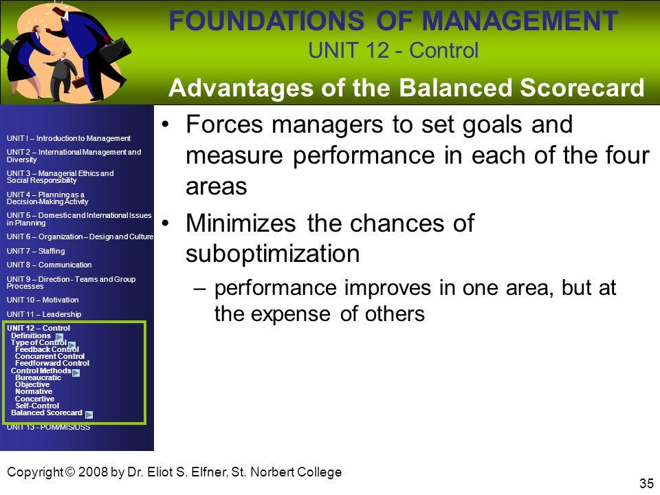 Advantages of the Balanced Scorecard