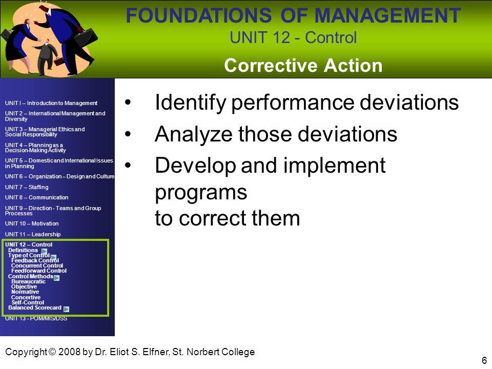 Identify performance deviations Analyze those deviations
