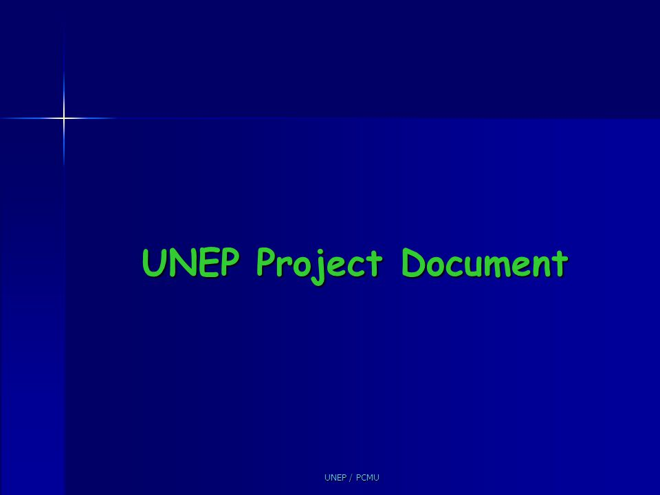UNEP Project Document