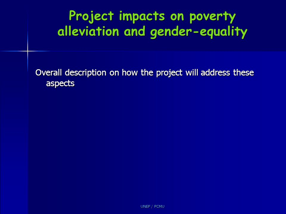 Project impacts on poverty alleviation and gender-equality