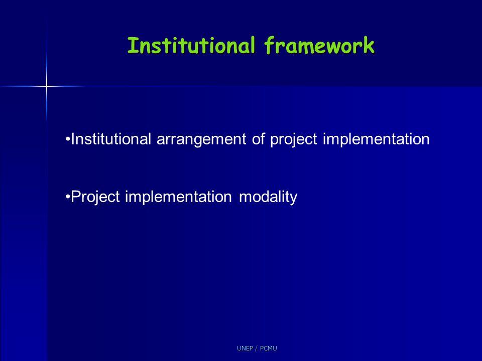 Institutional framework