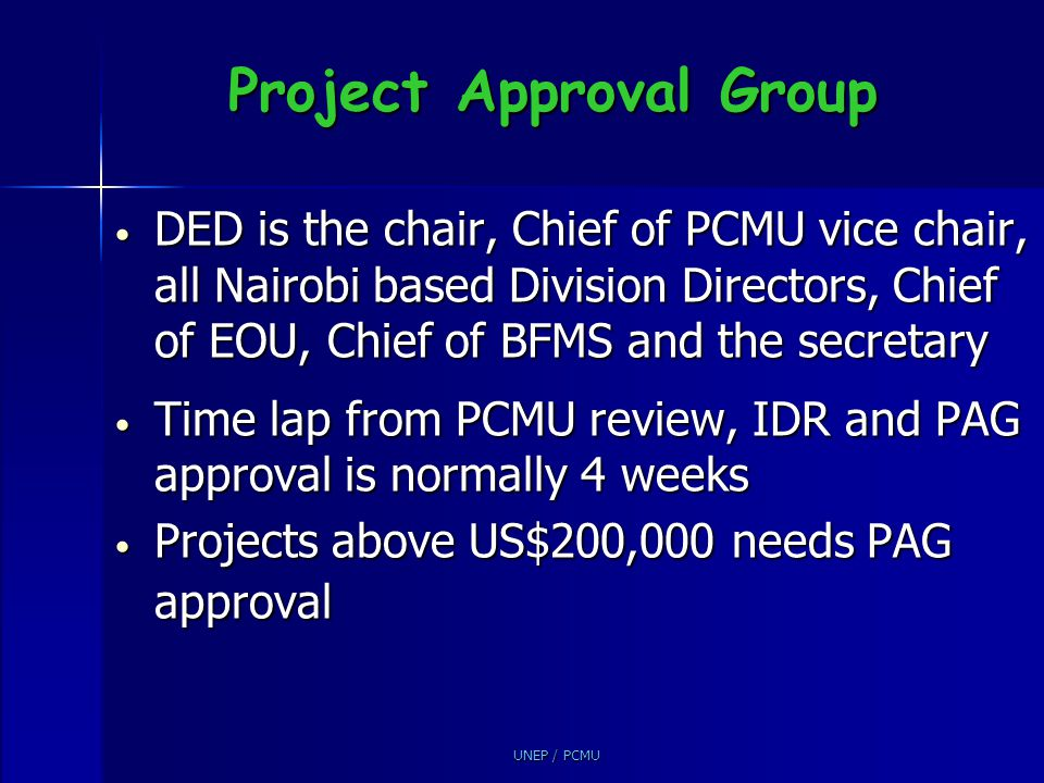 Project Approval Group