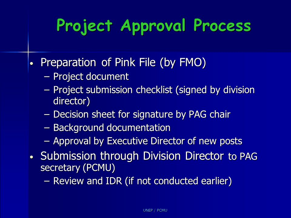 Project Approval Process