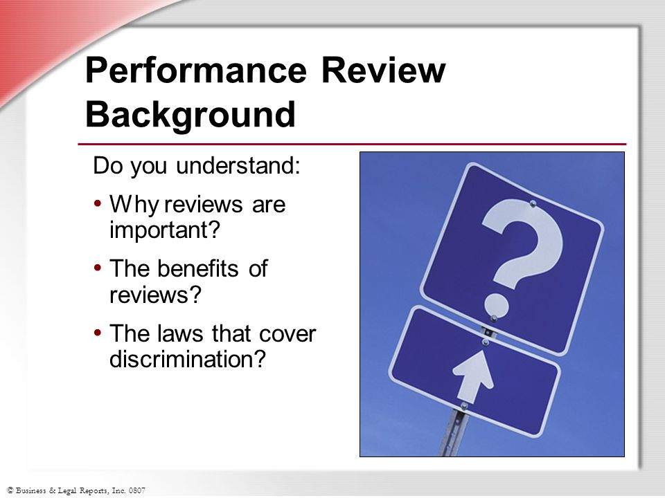 Performance Review Background