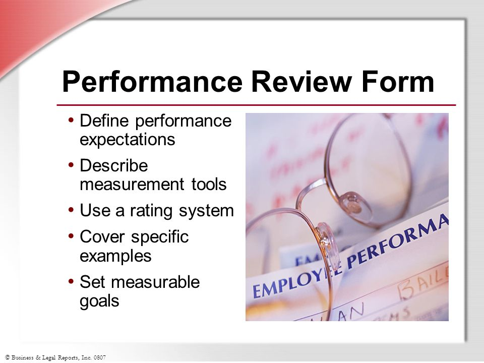 Performance Review Form