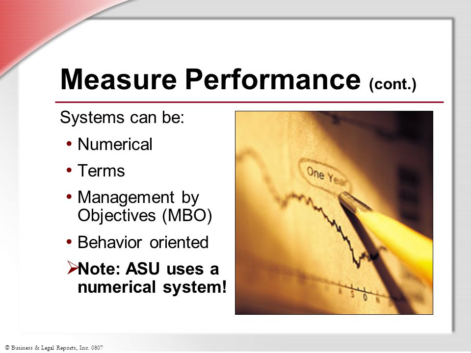Measure Performance (cont.)